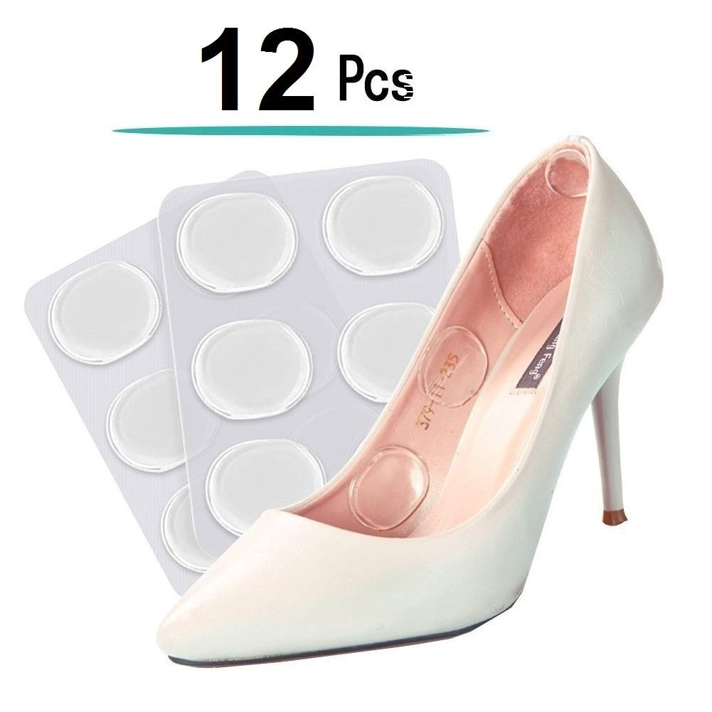 Gel Heel Pads, Soft High Heel Pads shoe Pads silicone Gel Heel Cushion inserts for women foot care Shoe Inserts Pad Insoles, Prevent Back Heel Pain and Improve Loose Shoe Fit, Premium Self-Adhesive.