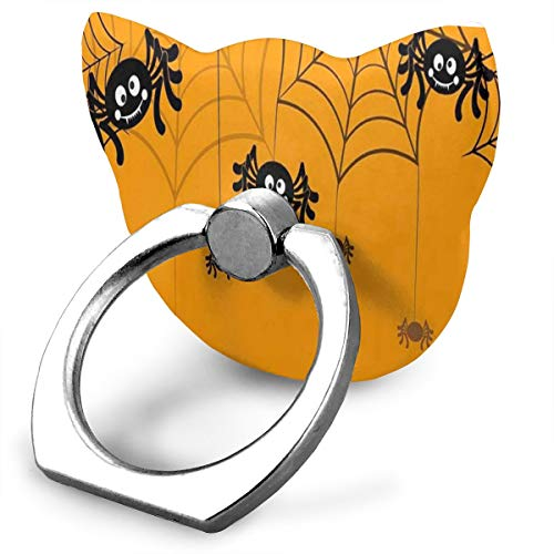 Awesome Customized Finger Ring Stand Halloween Seamless Pattern Spider Web 360°Rotation Cell Phone Ring Stand Holder Grip Universal Smartphone Ring