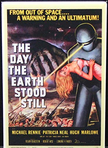 The Day the Earth Stood Still Movie Poster Refrigerator Magnet.