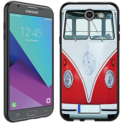 Galaxy J7 Prime case - [VW Transporter] (Black) PaletteShield Soft Flexible TPU gel skin phone cover (fit Samsung Galaxy J7v/ J7 Perx/ J7 Sky Pro/ J7 Prime/ J727) -  J727-PaletteShield