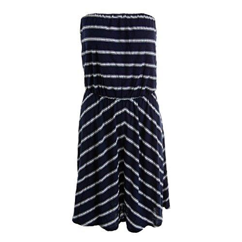 Michael Stars Women's Hampton Stripe Strapless Dress, Ship, One Size