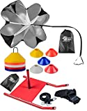 OSG Agility Training Crossfit Running Combo Power Speed Sled Chute & Marker Cones Disc