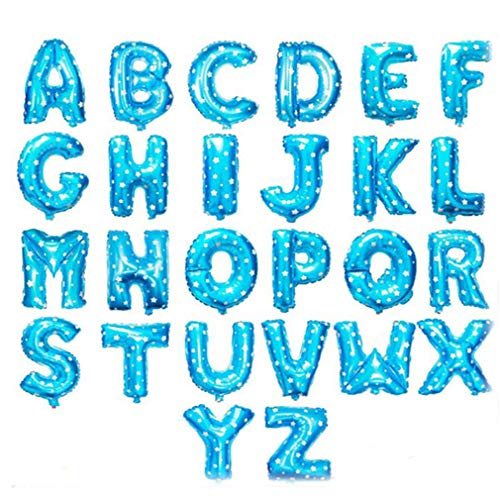 (16 inch Gold Silver Blue Pink Letter Balloons Birthday Wedding Decoration Foil Balloon Baby Shower Decor Event Party Supplies Blue S )