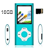 Ebook Readers Accessories Best Deals - Tomameri - Compact and Portable MP3 / MP4 Player with Rhombic Button ( Including a 16 GB Micro SD Card ) Supporting Photo Viewer, E-Book Reader and Voice Recorder and FM Radio Video Movie (Blue)