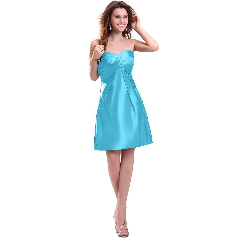 2014 Lovely Knee-length Sweetheart Satin Evening Dress Custom-made