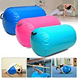 Ochoos Camping Airtrack – 85x100CM Fitness Inflatable Air Roller Home Small Gymnastic Cylinder Gym Gymnastics Mat Beam