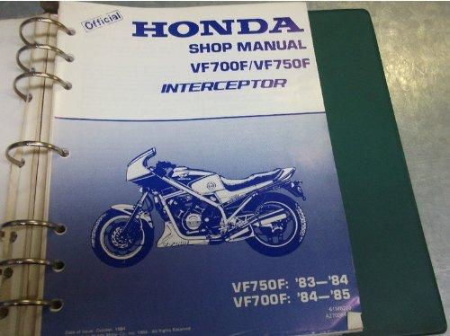 Honda Vf700f Interceptor - 1983 1984 1985 Honda Interceptor VF750F VF700F Repair Service Shop Manual OEM