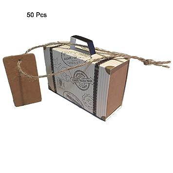 Tafeiya - Juego de 50 piezas de mini maleta para regalar en fiestas, caramelos,