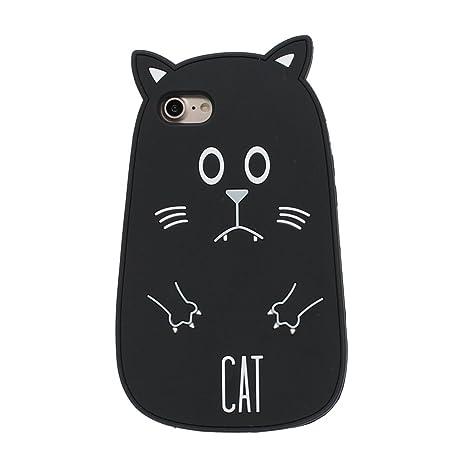 custodia iphone 7 silicone gatto