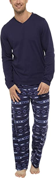 SaneShoppe Confezione Regalo da Uomo in Pigiama in Pile con Pantaloni in Flanella a Quadri