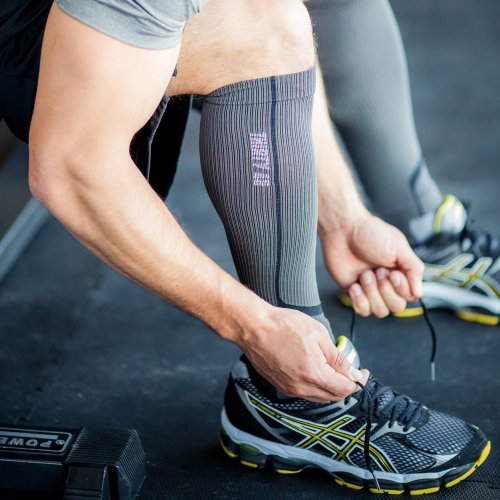 Graduated Calf Compression Sleeves for Men & Women by Thirty48 | 15 22 OR 20 30 mmHg | Maximize Faster Recovery by Increasing Oxygen to Muscles | Great for Running, Walking, Crossfit, Cycling, Travel