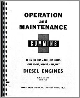 cummins nrt engine operators manual cummins 6301147650535 amazon rh amazon com Old Cummins Manual Instruction Manual Cummins