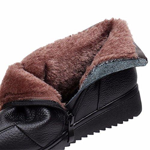 HXVU56546 Der Herbst Und Winter Frauen Neue Plus Samt Flach Weiche Baumwolle Baumwolle Stiefel Schuhe Talsohle black