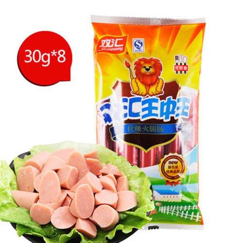 6bags China Shuanghui Ham Sausage 8pcs30g 6包 双汇王中王特级火腿肠 by Yichang Yaxian Food LTD.