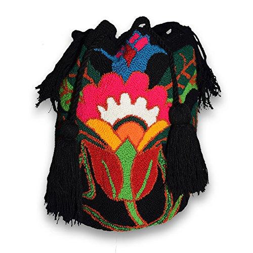 Bolso mochila wayuu hecho a mano por indígenas artesanal original 100%: Amazon.es: Hogar
