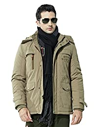 Men's Wool Blend Thicken and Warm Jacket Outdoor Western Style Solid Color Coat