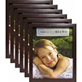 Mainstay` 8'' x 10'' Brown Linear Frame, Set of 6