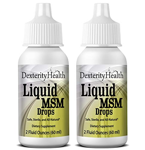 Top Organic Bottle (Liquid MSM Eye Drops, 2-Pack of 2oz Dropper-Top Bottles, Vegan, Made with Organic MSM, 100% Sterile, Easy to Use)