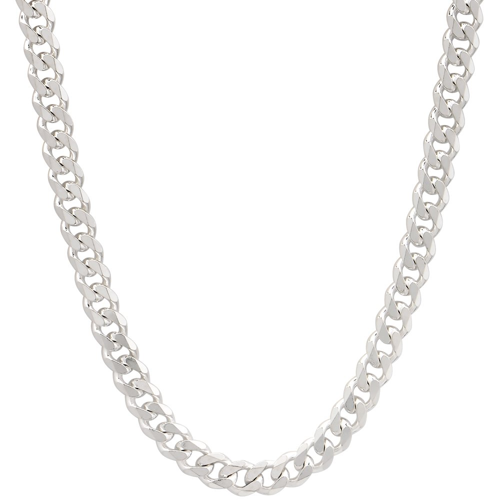 63bc148c0f4f5a 4mm Mens Solid .925 Sterling Silver Cuban Link Curb Chain Necklace, 20  Inch: Amazon.ca: Jewelry