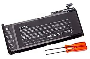 "KYTD Batería del Ordenador Portátil súper capacidad de Apple MacBook Unibody 13"" A1331 A1342 (Late 2009 Mid 2010) 020-6809-A MC207LL/A+ Cubierta del teclado-18 meses de garantía [10.95V 65Wh] A1331"