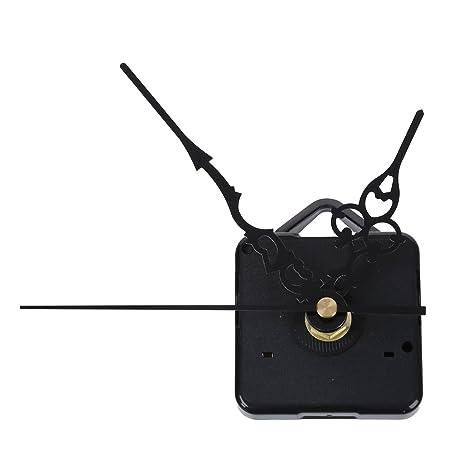 TOOGOO (R) Mecanismo Maquinaria de Reloj Cuarzo Horario Minutero Segudero Negro