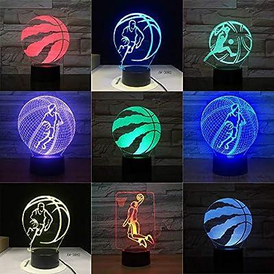 Raptors de baloncesto LED Night Light para Club Home Office Room ...