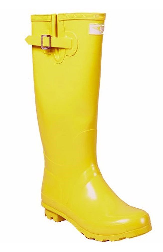 Forever Young Women Rubber Rain Boots - Yellow Gold - Size 9
