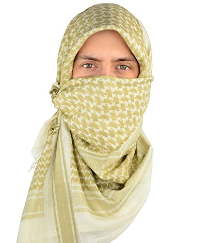 Mato & Hash Military Shemagh Tactical 100% Cotton Scarf Head Wrap - Stone/Tan CA2100 - 2
