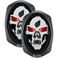 2) NEW BOSS SKULL SK693 6x9 600W 3 Way Coaxial Car Speakers Stereo Audio