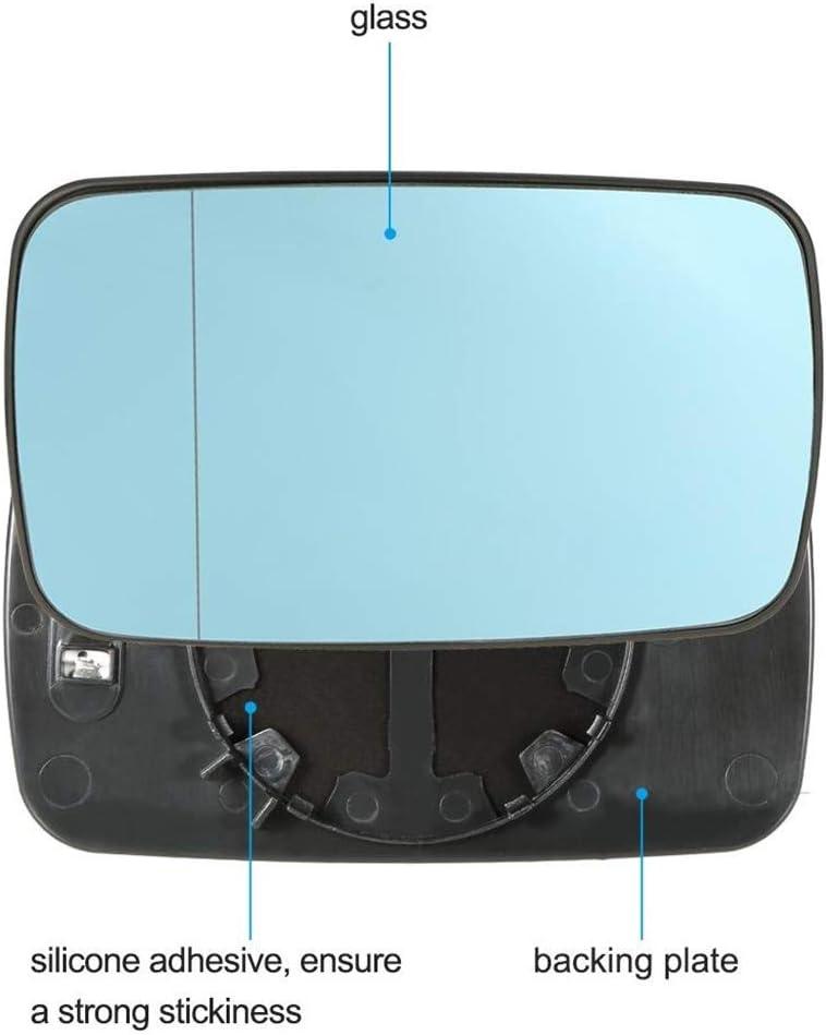 wufeng 1 Paire de Remplacement pour Miroir BMW E46 51168250438 Bleu Gauche c/ôt/é Droit Voiture Verre Chauffant R/étroviseur Verre 51168250438