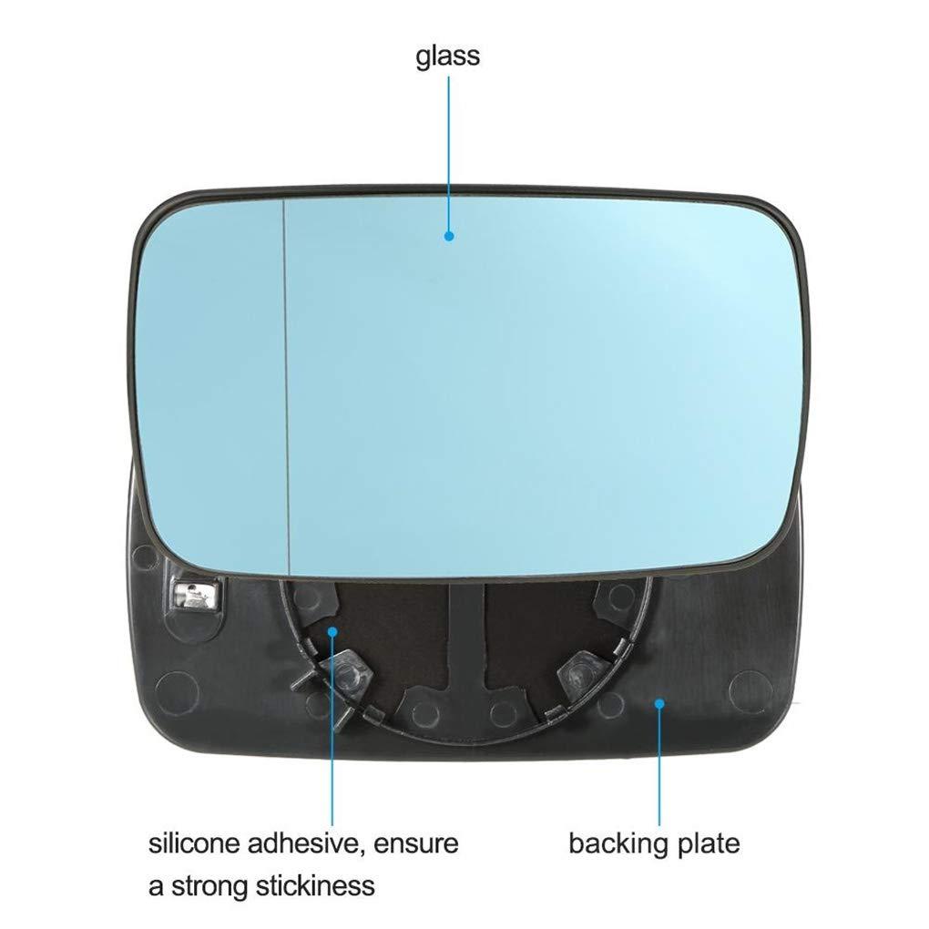 shangjunol 1 Sostituzione Pair per BMW E46 Blu Left Right Side Car Vetro riscaldato Specchio retrovisore Vetro 51.168.250,438 Mila