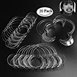 Mouth Openers for Speak Out Game,Standard Dental Mouth Opener (Set of 20 Pieces) - Cheek and Lip Retractor - Clear Medium Size