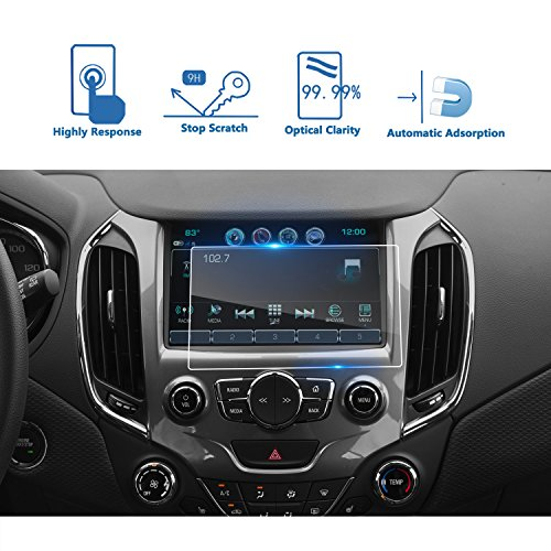 LFOTPP 2016-2018 Chevrolet Cruze 8 Inch Car Navigation Screen Protector, [9H] Tempered Glass Infotainment Center Touch Screen Protector Anti Scratch High Clarity