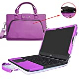 """Aspire ES 15 Case,2 in 1 Accurately Designed Protective PU Leather Cover + Portable Carrying Bag For 15.6"""" Acer Aspire ES 15 ES1-572 ES1-533 Serie Laptop(Not fit ES1-571 ES1-523 etc),Purple"""