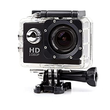Alolli HD Sports Action Camera Kit -2.0'' LPS-TFT LCD +120° Wide Angle Lens (Black)