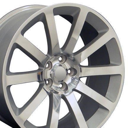 OE Wheels 22 Inch Fits Chrysler 300 Challenger SRT8 Charger SRT8 Magnum 300 SRT Style CL02 Silver Machined 22x9 Rim Hollander 2253