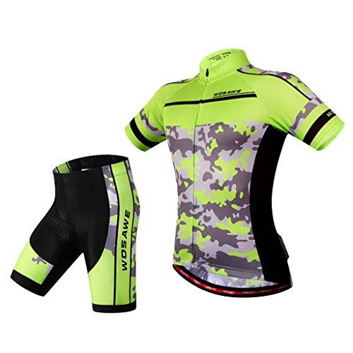 めるマオリ方言Flameer メンズ 自転車 バイク サイクリング ショーツ&ジャージーパンツ 下着 快適なタイツ 速乾性