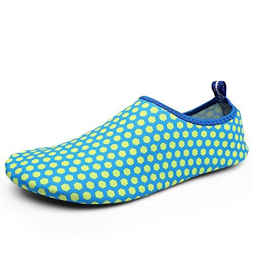 light de la transpirables cuidado acuático Anti Ultra azul calzado natación esquí zapatos DFS zapatos playa honeycomb Lucdespo piel Skid de 2 tyS45Z1cc