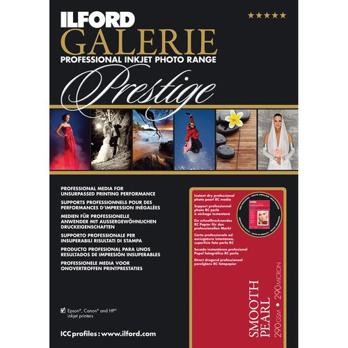 """Ilford Galerie Prestige 310gsm Smooth Pearl (5.0x7.0"""" - 100 Sheets)"""