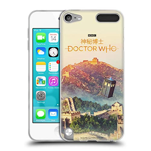 Official Doctor Who Great Wall of China Tardis Season 11 Asia Iconic Soft Gel Case for Apple iPod Touch 5G 5th Gen (Dr Who Ipod 5 Case)