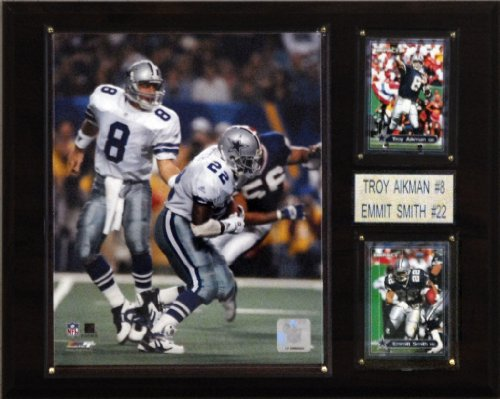 NFL Aikman-Smith-Irvin Dallas Cowboys Player Plaque