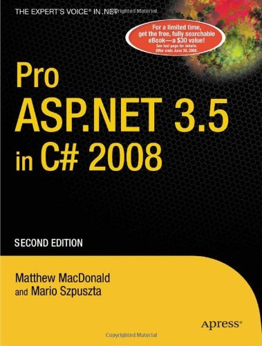 Read Online By Matthew MacDonald - Pro ASP.NET 3.5 in C# 2008: 2nd (second) Edition pdf