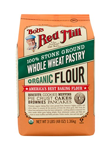 - Bob's Red Mill Organic Pastry Flour Whole Wheat, 48 Ounce (Pack of 4)