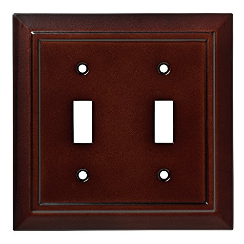 (Franklin Brass W35244-ESO-C Classic Architecture Double Switch Wall Plate/Switch Plate/Cover, Espresso)
