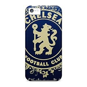Apple Iphone 5c KKU1555BBjK Unique Design Stylish Beloved Football Club Of London Chelsea Skin Shock Absorbent Cell-phone Hard Covers -JoannaVennettilli