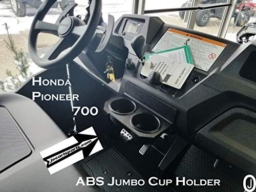 J & O Carts Parts Center Dash Cup Holder for Honda Pioneer 700 ABS Plastic 2 Jumbo Drink Holder ()