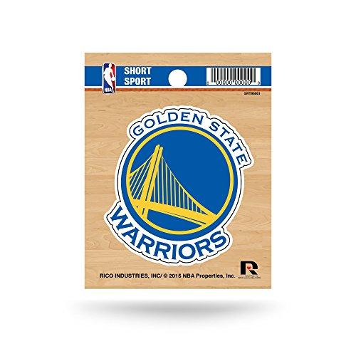 Rico Industries NBA Golden State Warriors Die Cut Team Logo Short Sport Sticker ()