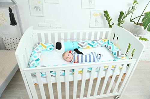 DOG Baby Pillow, Handmade Pillow, Bolster Pillow by DreamLand Babydecor