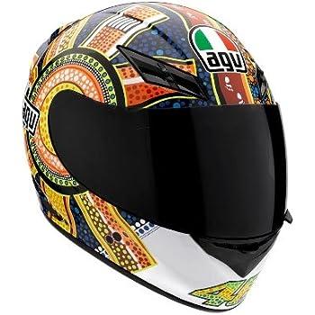 AGV K3 Dreamtime Full Face Motorcycle Helmet (Multicolor, Large)