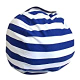 UltraZhyyne - New Creative Modern Storage Stuffed Animal Storage Bean Bag Chair Portable Kids Clothes Toy Storage Bags [ Blue M ]